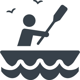 ボートを漕いでいる人のイラストアイコン素材 2 商用可の無料 フリー のアイコン素材をダウンロードできるサイト Icon Rainbow