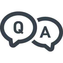 お問い合わせのアイコン Q Aの吹き出し 1 商用可の無料 フリー のアイコン素材をダウンロードできるサイト Icon Rainbow