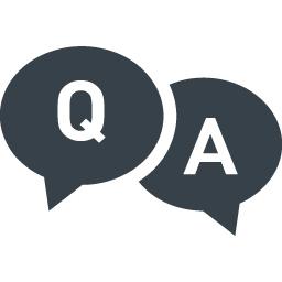 お問い合わせのアイコン Q Aの吹き出し 2 商用可の無料 フリー のアイコン素材をダウンロードできるサイト Icon Rainbow