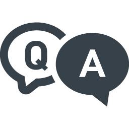 お問い合わせのアイコン Q Aの吹き出し 3 商用可の無料 フリー のアイコン素材をダウンロードできるサイト Icon Rainbow