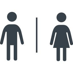 トイレなどで使える男女のシルエットアイコン素材 2 商用可の無料 フリー のアイコン素材をダウンロードできるサイト Icon Rainbow