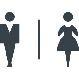 トイレなどで使える男女のシルエットアイコン素材 3 商用可の無料 フリー のアイコン素材をダウンロードできるサイト Icon Rainbow
