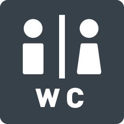 トイレなどで使える男女のシルエットアイコン素材 6 商用可の無料 フリー のアイコン素材をダウンロードできるサイト Icon Rainbow