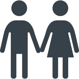 男女のカップルのシルエットアイコン素材 商用可の無料 フリー のアイコン素材をダウンロードできるサイト Icon Rainbow