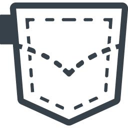 デニムのポケットのアイコン素材 商用可の無料 フリー のアイコン素材をダウンロードできるサイト Icon Rainbow