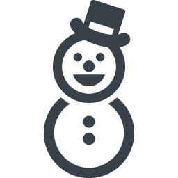 帽子の雪だるまのアイコン素材 1 商用可の無料 フリー のアイコン素材をダウンロードできるサイト Icon Rainbow