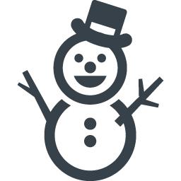 帽子の雪だるまのイラストアイコン素材 3 商用可の無料 フリー のアイコン素材をダウンロードできるサイト Icon Rainbow