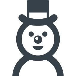 帽子の雪だるまのアイコン素材 4 商用可の無料 フリー のアイコン素材をダウンロードできるサイト Icon Rainbow