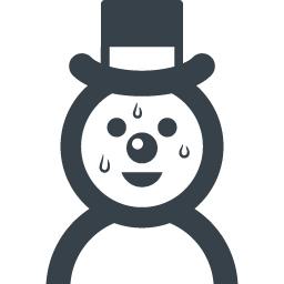 汗だらだらの雪だるまのアイコン素材 商用可の無料 フリー のアイコン素材をダウンロードできるサイト Icon Rainbow