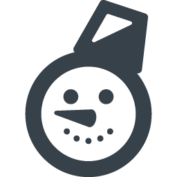 雪だるまの顔のアイコン素材 3 商用可の無料 フリー のアイコン素材をダウンロードできるサイト Icon Rainbow