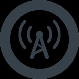 電波 アンテナのアイコン素材 6 商用可の無料 フリー のアイコン素材をダウンロードできるサイト Icon Rainbow
