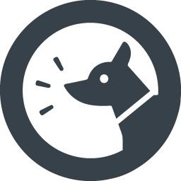 吠える犬のアイコン素材 2 商用可の無料 フリー のアイコン素材をダウンロードできるサイト Icon Rainbow