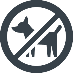 ペットお断り 連れ込み禁止のマークアイコン 1 商用可の無料 フリー のアイコン素材をダウンロードできるサイト Icon Rainbow