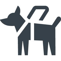 盲導犬のフリーアイコン素材 2 商用可の無料 フリー のアイコン素材をダウンロードできるサイト Icon Rainbow