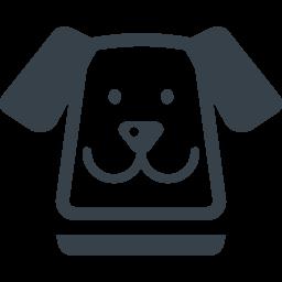 かわいい犬の顔のイラストアイコン素材 2 商用可の無料 フリー のアイコン素材をダウンロードできるサイト Icon Rainbow