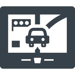 車のカーナビの無料アイコン素材 6 商用可の無料 フリー のアイコン素材をダウンロードできるサイト Icon Rainbow