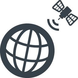 人工衛星と地球のアイコン素材 商用可の無料 フリー のアイコン素材をダウンロードできるサイト Icon Rainbow