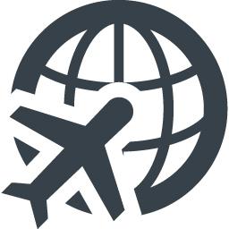 飛行機と地球のアイコン素材 商用可の無料 フリー のアイコン素材をダウンロードできるサイト Icon Rainbow