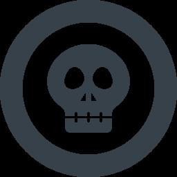 ドクロマークのアイコン素材 3 商用可の無料 フリー のアイコン素材をダウンロードできるサイト Icon Rainbow