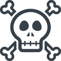 ドクロマークのアイコン素材 5 商用可の無料 フリー のアイコン素材をダウンロードできるサイト Icon Rainbow