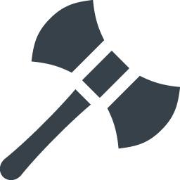 両刃の斧 ラブリュス のアイコン素材 商用可の無料 フリー のアイコン素材をダウンロードできるサイト Icon Rainbow