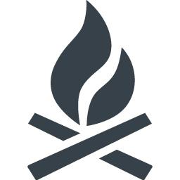 たき火の炎のアイコン素材 商用可の無料 フリー のアイコン素材をダウンロードできるサイト Icon Rainbow