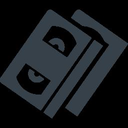 Vhsビデオテープの無料アイコン素材 3 商用可の無料 フリー のアイコン素材をダウンロードできるサイト Icon Rainbow