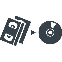 ビデオからcdへの移行アイコン素材 商用可の無料 フリー のアイコン素材をダウンロードできるサイト Icon Rainbow
