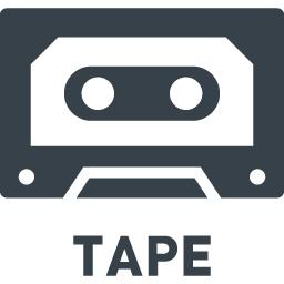 カセットテープの無料アイコン素材 2 商用可の無料 フリー のアイコン素材をダウンロードできるサイト Icon Rainbow