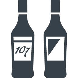 お酒のボトルのアイコン素材 4 商用可の無料 フリー のアイコン素材をダウンロードできるサイト Icon Rainbow