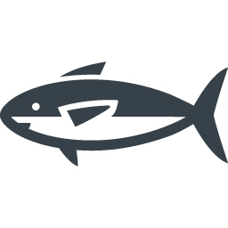 マグロ系の大型の魚のアイコン 1 商用可の無料 フリー のアイコン素材をダウンロードできるサイト Icon Rainbow