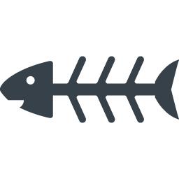 食べられて骨になった魚のアイコン素材 商用可の無料 フリー のアイコン素材をダウンロードできるサイト Icon Rainbow