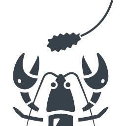 ザリガニの捕獲のアイコン素材 商用可の無料 フリー のアイコン素材をダウンロードできるサイト Icon Rainbow