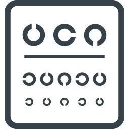 視力検査表のアイコン素材 商用可の無料 フリー のアイコン素材をダウンロードできるサイト Icon Rainbow