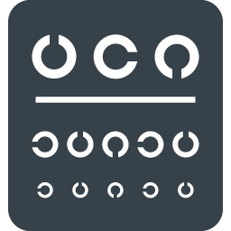 視力検査表のアイコン素材 2 商用可の無料 フリー のアイコン素材をダウンロードできるサイト Icon Rainbow