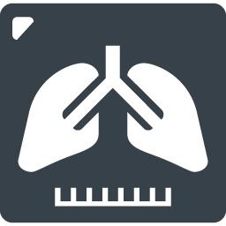 レントゲンに映った肺のアイコン素材 商用可の無料 フリー のアイコン素材をダウンロードできるサイト Icon Rainbow