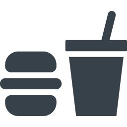 フードコート ファストフードの無料アイコン素材 1 商用可の無料 フリー のアイコン素材をダウンロードできるサイト Icon Rainbow