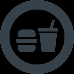フードコート ファストフードの無料アイコン素材 3 商用可の無料 フリー のアイコン素材をダウンロードできるサイト Icon Rainbow