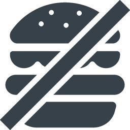 飲食禁止またはジャンクフード禁止のアイコン素材 商用可の無料 フリー のアイコン素材をダウンロードできるサイト Icon Rainbow