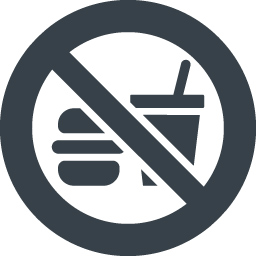 飲食禁止の無料アイコン素材 商用可の無料 フリー のアイコン素材をダウンロードできるサイト Icon Rainbow