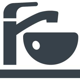 蛇口とボウルの手洗い洗面器のアイコン素材 商用可の無料 フリー のアイコン素材をダウンロードできるサイト Icon Rainbow
