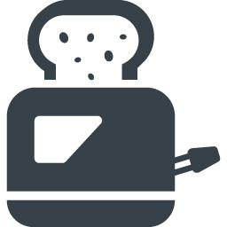 パンを焼くトースターのイラストアイコン素材 1 商用可の無料 フリー のアイコン素材をダウンロードできるサイト Icon Rainbow
