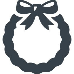クリスマスリースのフリーアイコン素材 1 商用可の無料 フリー のアイコン素材をダウンロードできるサイト Icon Rainbow