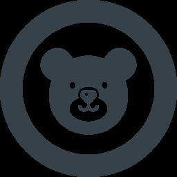 かわいいクマの無料アイコン素材 4 商用可の無料 フリー のアイコン素材をダウンロードできるサイト Icon Rainbow