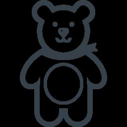クマのぬいぐるみのアイコン無料素材 3 商用可の無料 フリー のアイコン素材をダウンロードできるサイト Icon Rainbow