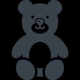 テディベア風のクマの無料アイコン素材 1 商用可の無料 フリー のアイコン素材をダウンロードできるサイト Icon Rainbow