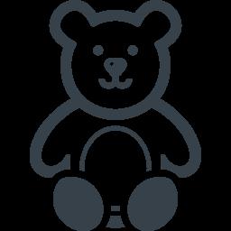 テディベア風のクマの無料アイコン素材 2 商用可の無料 フリー のアイコン素材をダウンロードできるサイト Icon Rainbow
