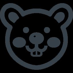 ねずみのスマイルの無料アイコン素材 1 商用可の無料 フリー のアイコン素材をダウンロードできるサイト Icon Rainbow