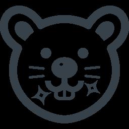 ねずみの歯キラリのイラストアイコン素材 商用可の無料 フリー のアイコン素材をダウンロードできるサイト Icon Rainbow