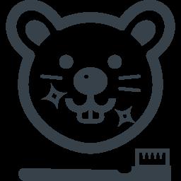ネズミの歯みがきのイラストアイコン素材 商用可の無料 フリー のアイコン素材をダウンロードできるサイト Icon Rainbow